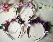 Sweet Fawn Floral Headband