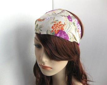Garden Floral Bandana Hippie Head Wrap Bohemian Dreadband Womens Headband Dreadlock Headband Hair Accessory Womens Gift for Her, Gift Ideas