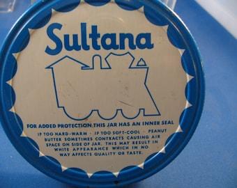Vintage Sultana Peanut Butter Jar