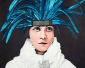 Giclee Print // A3 // 17''x12'' // twenties flapper illustration // portrait // doe eyed foe