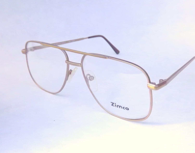Classic Eyeglasses Frames Mens : Mens EyeglassesGold Metal Aviator Eyewear Vintage 80s
