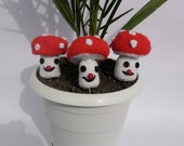 3 pcs Easter Crochet mushroom Decoration
