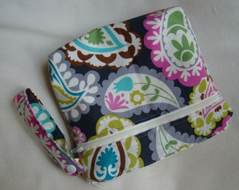 "Made To Order: XSmall wet/dry bag, 6""X8"", paisley print."
