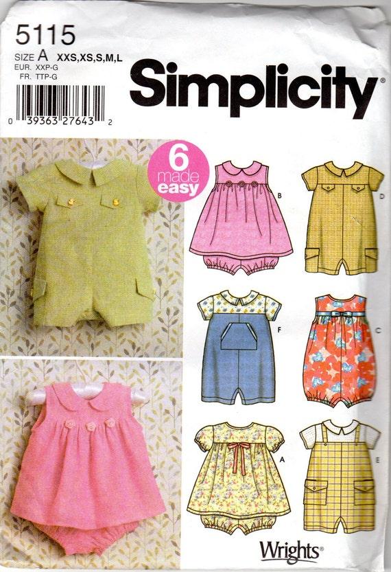 Baby Boy Amp Girl Romper And Dress Pattern Size Newborn
