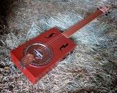 Fretless Acoustic 4-String Cigar Box Guitar