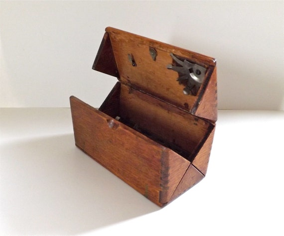 Antique Wooden Singer Folding Box Sewing Puzzle Box Patent
