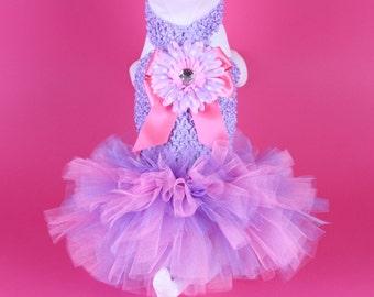 SPRING -- Lavender & Pink DOG TUTU Dress