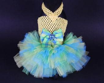 SUMMER -- Caribbean Sunshine DOG TUTU Dress