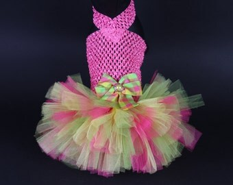 SUMMER -- Maui Breeze DOG TUTU Dress