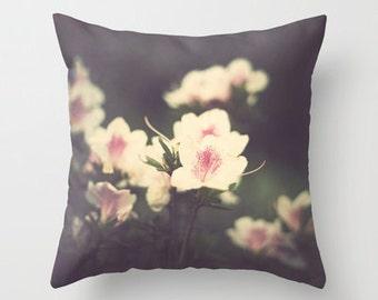 Pillow cover, purple pillow, pink pillow, flower pillow, french decor, rustic decor, vintage pillow, couch pillow, love pillow,pillows