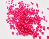 red -pink quartz tiny faceted rondelle beads