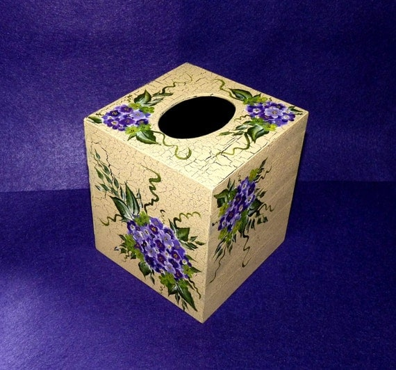 Decorated Tissue Box: Elegant Distressed Tissue Box Cover By EssenceOfTheSouth