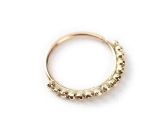 Nose ring - Hippie Gold nose ring - 14 karat yellow gold - nose jewelry - septum ring