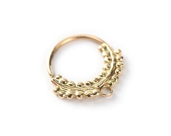 septum jewelry - primitive style - Gold nose ring 14 karat yellow gold - nose jewelry - septum ring - tragus - nose piercing