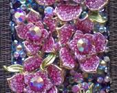 3D Custom: Swarovski Floral case