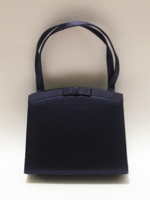 Navy Evening Bag Navy Blue Formal Bag Satin Evening