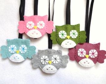 FREE US SHIPPING! Set of 4 owl headbands// kawaii cute// stocking stuffers//