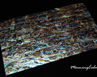 Blue Paua Veneer Sheet (Mother of Pearl MOP Shell Overlay Inlay Luthier Nacre)
