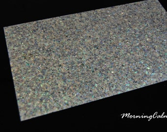 Paua Sparkle Veneer Sheet (Mother of Pearl MOP Shell Overlay Inlay Luthier Nacre)