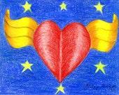 Super Heart Valentine Greeting Card