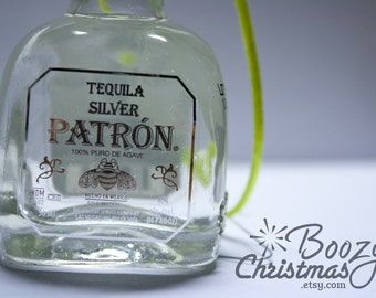 Patron Christmas Ornament-- Patron Tequila Themed Christmas Tree Ornament.