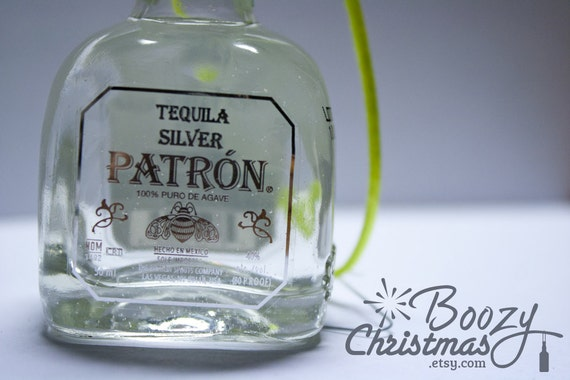 Patron Christmas Ornament-- Patron Tequila Themed Christmas Tree Ornament.