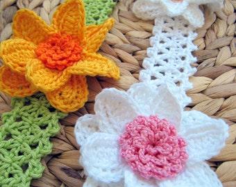 Baby Flower Headband Crochet PATTERN-Baby Shower-Baby Girl Gift-DIY Crafts-Instant Download PDF-Digital Pattern No.80 by Lyubava Crochet