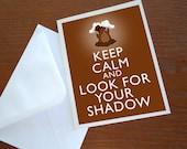 Keep Calm Groundhog Day Print Your Own Poster Card Tag 8x10 inch DIY PIY Printable jpg pdf Download Digital File Clip Art DP72 - WildGeeseDigital