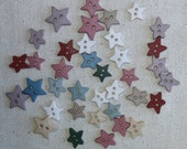 Buttons / 30 plus star buttons earthy country colour stars / 0.625 inch to 0.75 inch