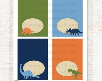 Dinosaur FOOD LABELS - Table Tents - Immediate Download - DIY Digital File