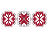 Nordic Snowflakes  - Counted Cross Stitch Chart Pattern PDF- Instant Digital Download