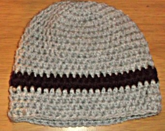 grey and brown boys hat beanie 6 to 12 months photo prop