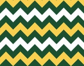 Medium Chevron Green/Gold by Riley Blake Designs 1 Yard Cut