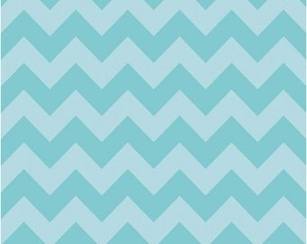 Medium Chevron Tone on Tone Aqua by Riley Blake Designs 1 yard cut