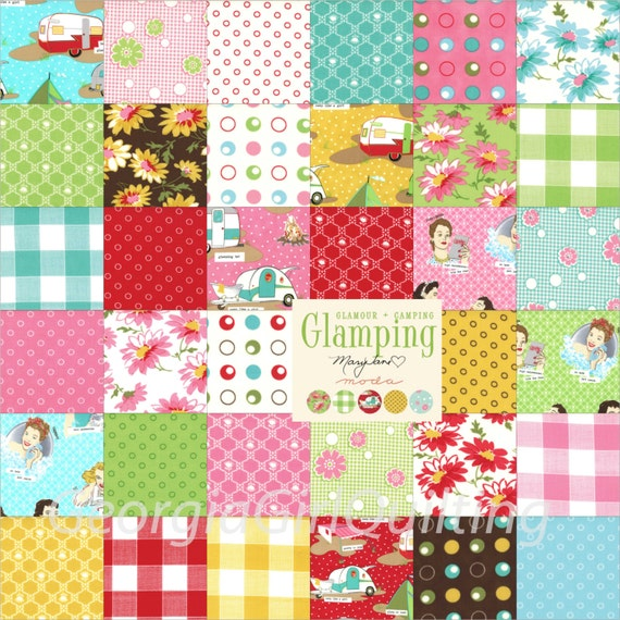 Layer Cake Quilt Missouri Star : Glamping Layer Cake Moda Fabrics Quilt Fabric 42 10