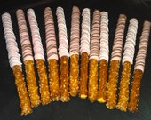 Chocolate Covered Pretzel Rods - 1 Dozen