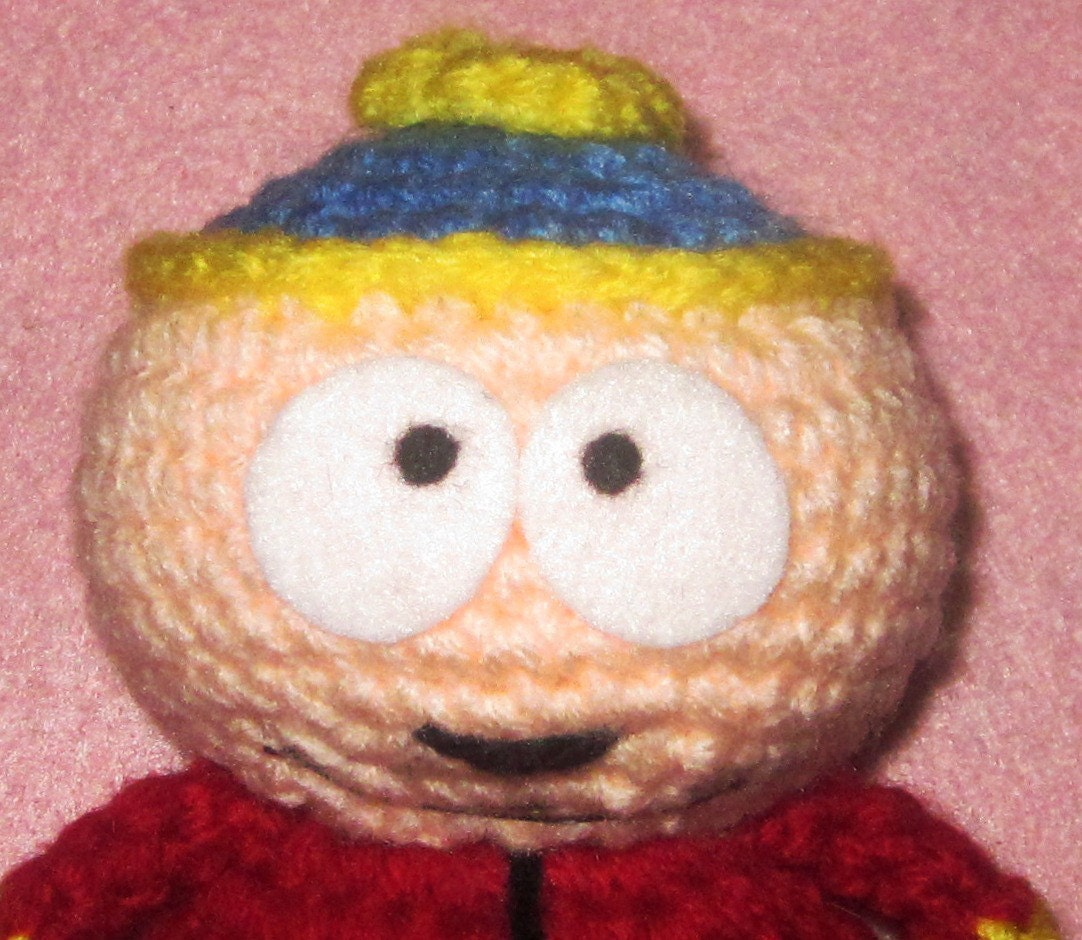 Adorable crochet Amigurumi South Park Eric Cartman by JNArts