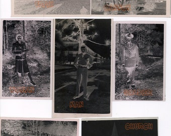 Negatives from WWII - Instant Digital Download - 300dpi - Collage Altered Art Mixed Media
