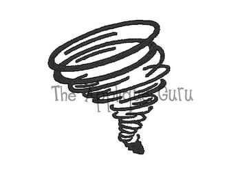 Tornado Machine Embroidery Design