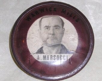 Employee ID Pin.......Funky Brooch......Whitehead   & Hoag .....WW2......Warwick Mills