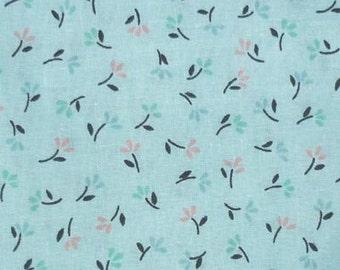 Very Sweet Aqua Ditsy Print Vintage Fat Quarter Fabric Material