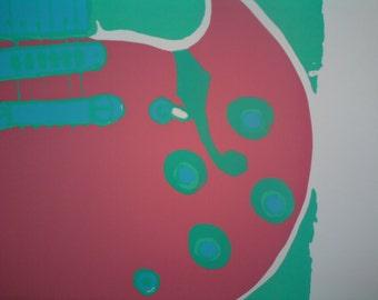 Guitar Print Gibson 335  - Pop Art Screenprint - Music Art - Large Wall Art