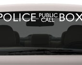 Police Box Public Call Decal