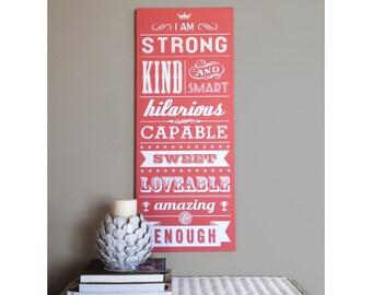 Inspirational Graphic Art - Girl's Room - Digital Printable File