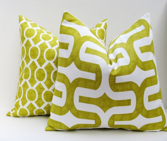 Throw Pillow Covers 20x20 Lime Green Pillow Covers by EastAndNest