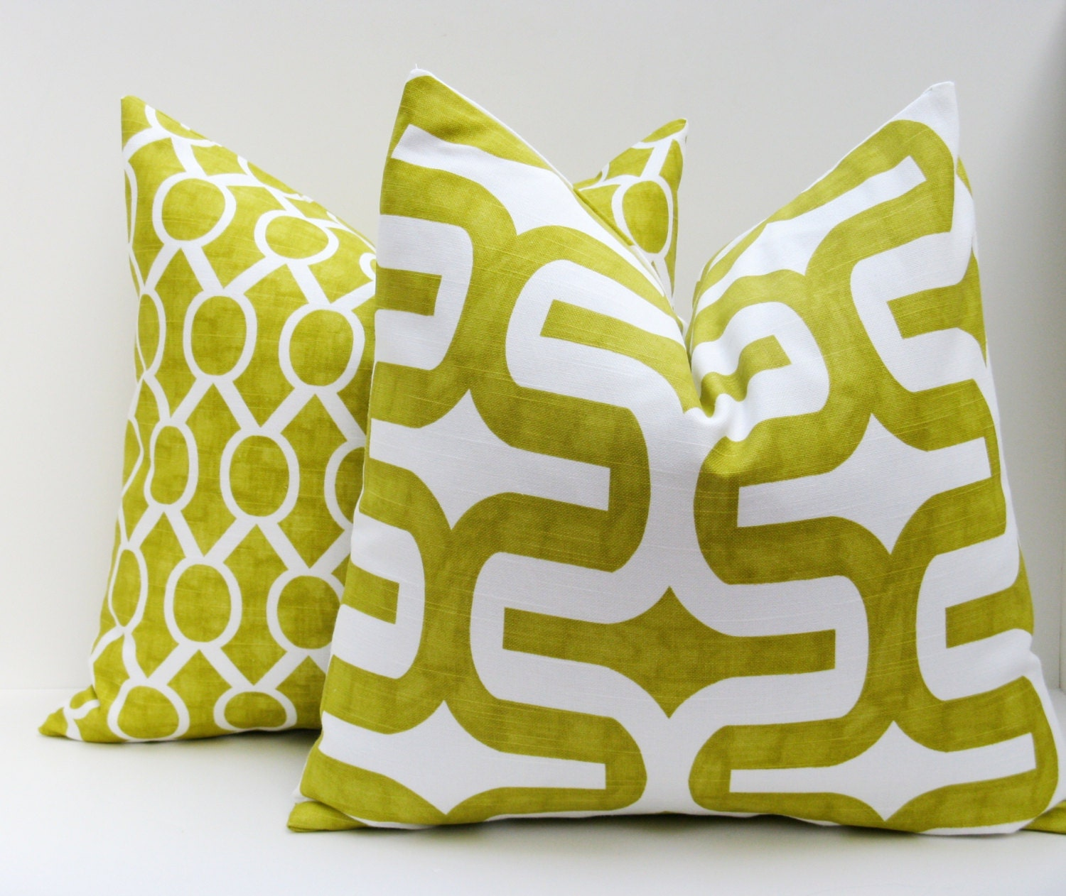 Large Square Decorative Pillow Covers : Throw Pillow Covers 20x20 Lime Green Pillow Covers by EastAndNest