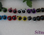 12mm colored eyes  Plastic Safety Eyes for Amigurumi