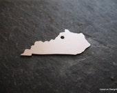 Kentucky Shape Metal Stamping Blank / Hand Stamp Shape Disc / Handstamping Supply / Custom Design Blank