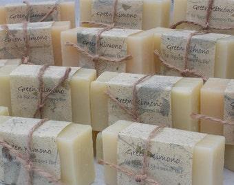 Set of 3 All Natural Shampoo Bars and Soaps... natural gift wrapping