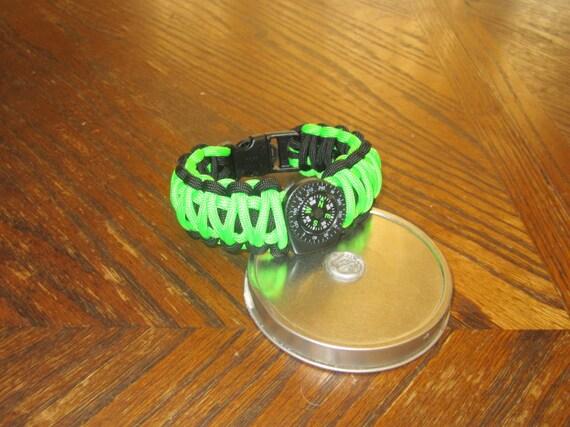 Handmade Paracord Black Cobra Bracelet Made to Measure Custom Order Survival